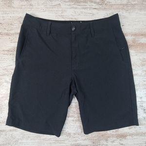 Men's Nitrous Black Hybrid Stretch Shorts 31 EUC